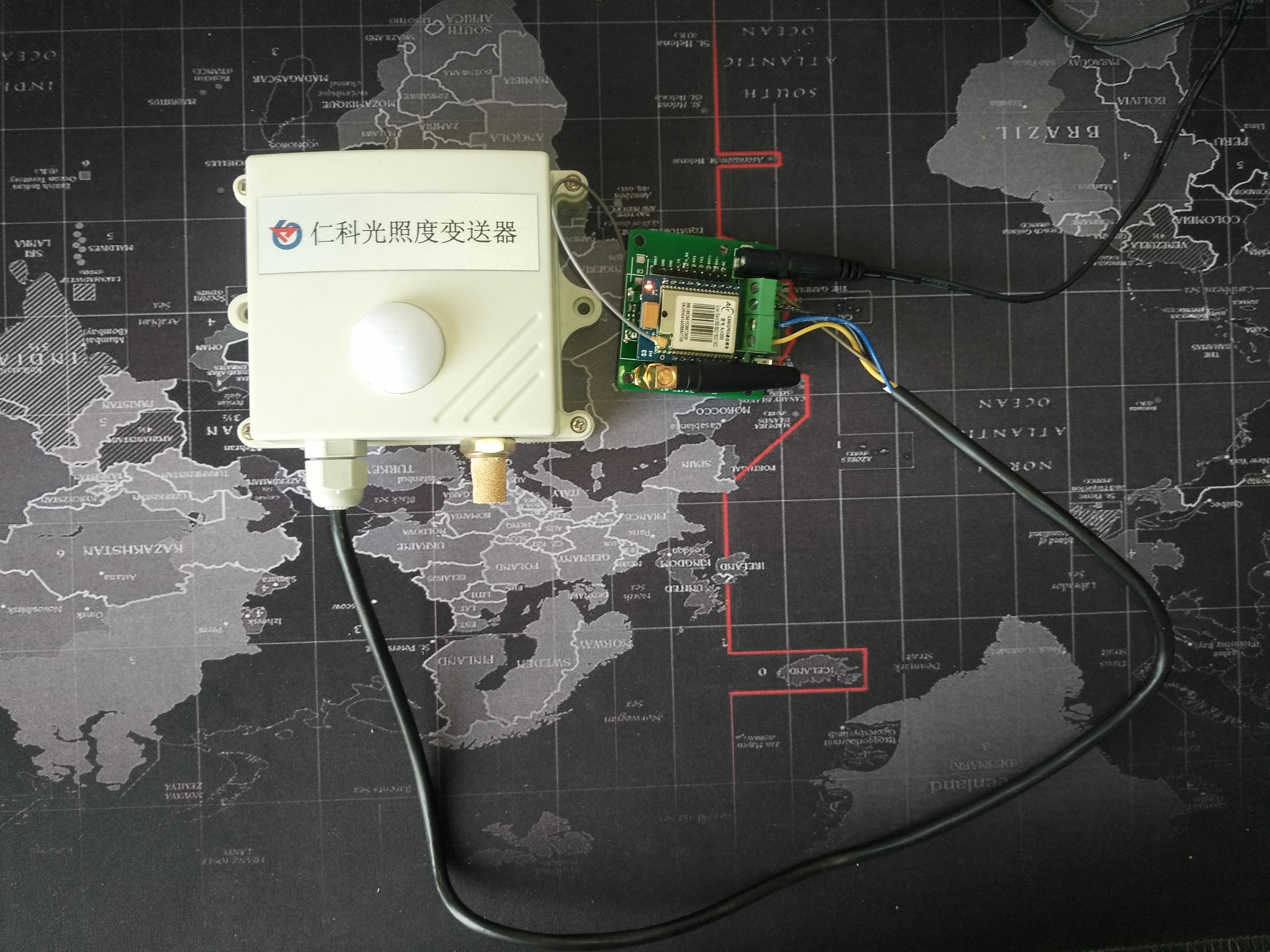 光照度传感器与DTU